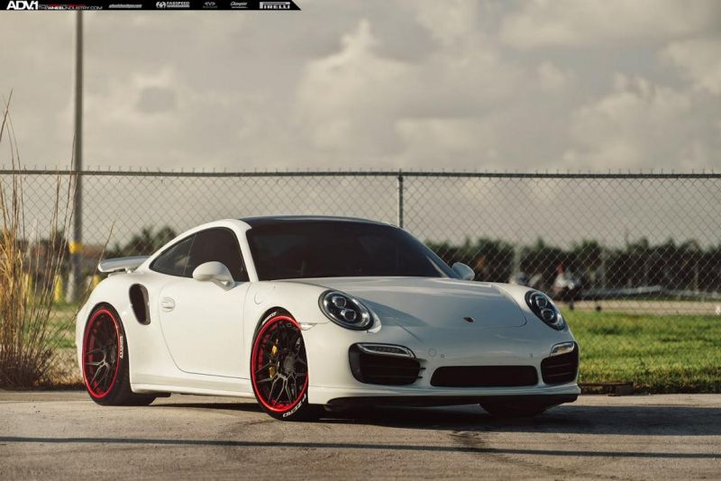Porsche 991 Turbo S On ADV7 Track Spec CS By ADV.1 Wheels 1 ADV.1 21 Zoll Wheels auf dem Porsche 911 (991) Turbo S