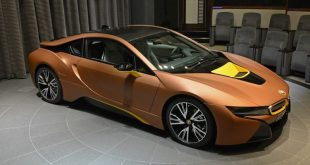 Unique BMW i8 foiling 1 310x165 Very exclusive BMW I8 in Abu Dhabi (Copper & Yellow)