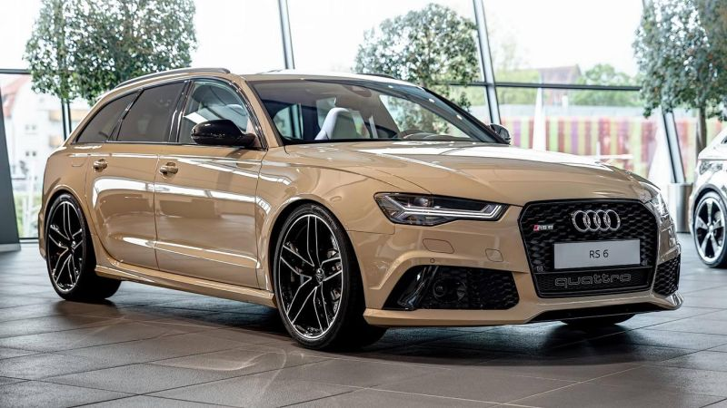 audi rs6 avant in mocha latte 1 Schicker Audi RS6 Facelift in Mokka Latte Beige