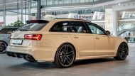 audi rs6 avant in mocha latte 5 190x107 Schicker Audi RS6 Facelift in Mokka Latte Beige