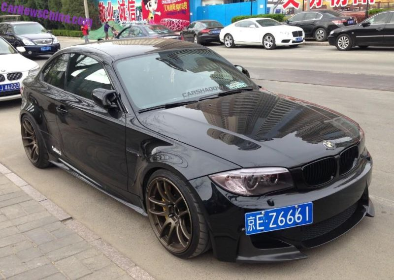 bmw 1m china black tuning 1 Böses BMW 1er Series M Coupe Black Beast in China