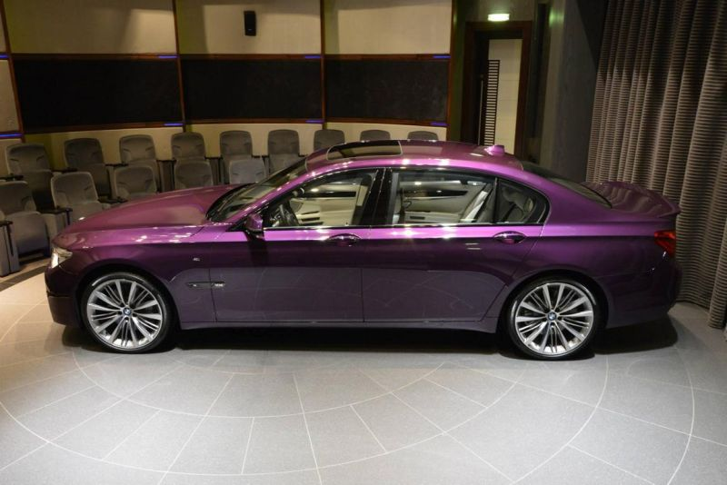 bmw 760 li wearing purple and a v12 1 BMW F02 760 LI V12   Langversion in Lila & Beige
