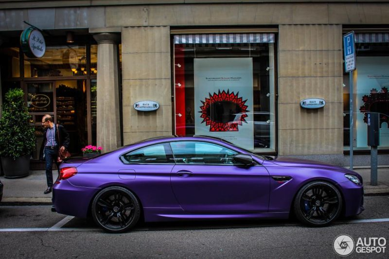 Bmw M6 F13 Coupe In Lila Schwarz Von G Power
