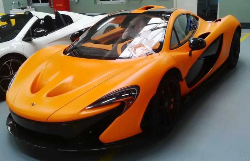 image mclaren orange 1 Der erste   Satin Orange lackierter McLaren P1