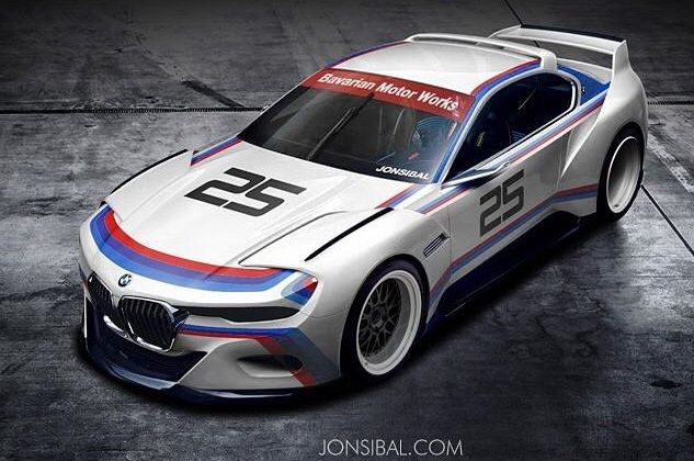 jon sibal 30 hommage 1 BMW 3.0 CSL   Hommage in BMW M Farben by Jonsibal