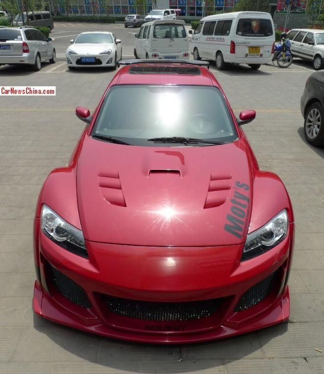 mazda x8 china 1 tuning 1 Brutalo Wide Body Kit am Mazda RX8 in China