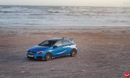 mercedes a45 amg on vossen 20 inch wheels takes 2 190x114 20 Zoll Vossen Wheels VFS2 auf dem Mercedes A45 AMG