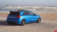 mercedes a45 amg on vossen 20 inch wheels takes 3 190x109 20 Zoll Vossen Wheels VFS2 auf dem Mercedes A45 AMG