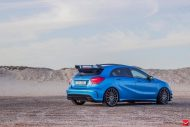 mercedes a45 amg on vossen 20 inch wheels takes 6 190x127 20 Zoll Vossen Wheels VFS2 auf dem Mercedes A45 AMG