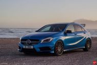 mercedes a45 amg on vossen 20 inch wheels takes 7 190x127 20 Zoll Vossen Wheels VFS2 auf dem Mercedes A45 AMG
