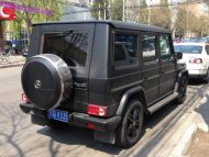 mercedes g matte black tuning china 2 190x143 Mercedes Benz G500 Mattschwarz in China fotografiert