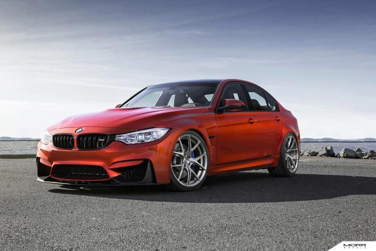 bmw m3 f80 in sakhir orange mit morr wheels und kw. Black Bedroom Furniture Sets. Home Design Ideas