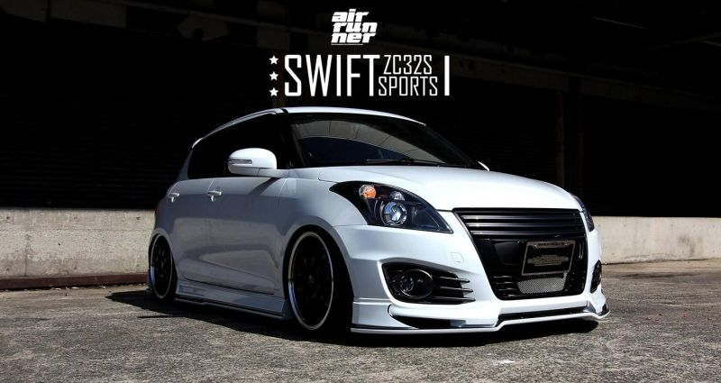 suzuki swift sport with beli kit and suspension airride. Black Bedroom Furniture Sets. Home Design Ideas