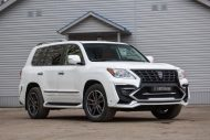 white lexus lx 570 with larte tuning kit 1 190x127 Lexus LX 570 mit Larte Design Alligator Tuning Kit