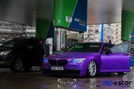 10474174 1072074312808943 1637779743233239933 o 190x127 Ultrafett   BMW 7er F01 mit Lila Folierung und Vossen Wheels