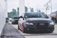 Audi S4 On Vossen Forged VPS 304 By Vossen Wheels 1 190x127 Vossen Wheels VPS 304 in Rot an der Audi A4 S4 Limo
