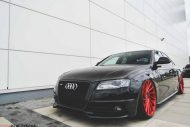Audi S4 On Vossen Forged VPS 304 By Vossen Wheels 2 190x127 Vossen Wheels VPS 304 in Rot an der Audi A4 S4 Limo