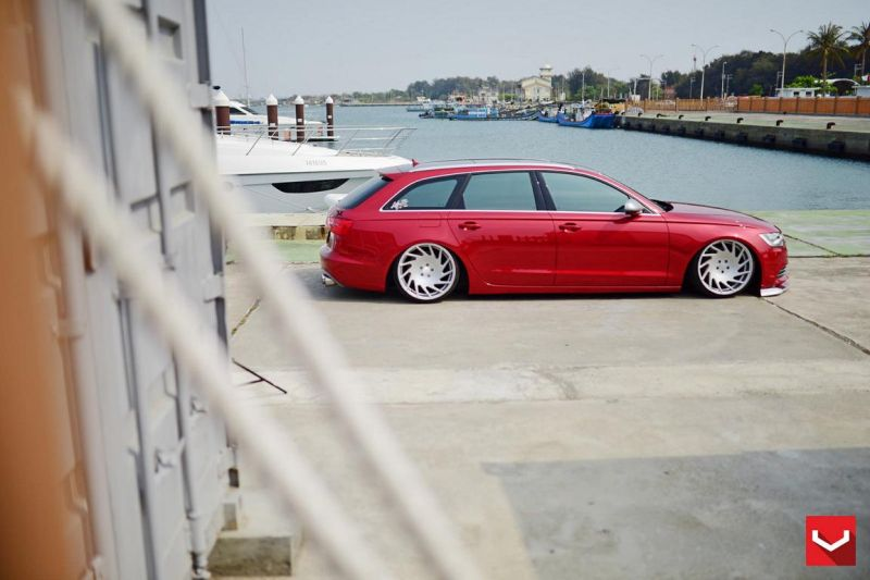 Audi S6 On VLE1 By Vossen Wheels tuning 1 Audi A6 S6 4G mit Vossen Wheels Alufelgen Typ VLE 1
