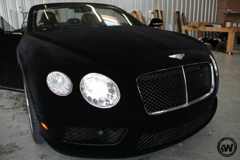Black Velvet Bentley GTC tuning 1 Samtiger Begleiter   Bentley GTC in Black Velvet Folierung