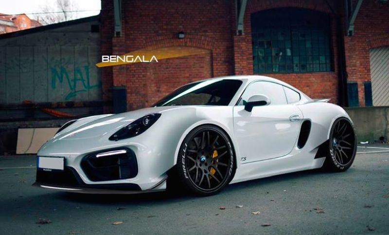 Porsche Cayman Wide Body rendering 1 Bengala Porsche Cayman mit Wide Body Kit (Rendering)