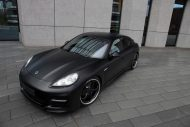 Techart Porsche Panamera Bodykit Tuning mattschwarz 2 190x127 Tuning   TECHART GrandGT Bodykit am Porsche Panamera Turbo