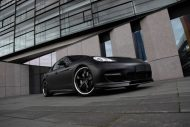 Techart Porsche Panamera Bodykit Tuning mattschwarz 5 190x127 Tuning   TECHART GrandGT Bodykit am Porsche Panamera Turbo