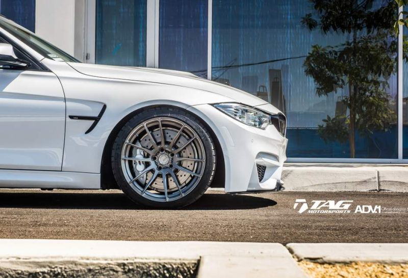 adv1 bmw m3 f80 adv6 2 polished gunmetal 1 19 Zoll ADV6.2 MV1 CS Wheels auf dem BMW M3 F80