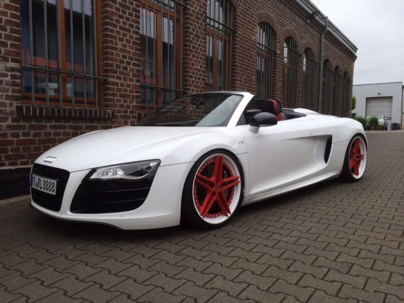 audi r8 v10 spyder mit 20 zoll alus und kw gewindefedern magazin. Black Bedroom Furniture Sets. Home Design Ideas