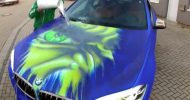 bmw x6 paintjob reveals inner hulk you pour hot water 8 190x100 Video: Irre Farbwechsel Lackierung auf dem BMW X6 enthüllt den HULK und Lamborghini