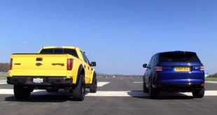 video drage race range rover spo 310x165 Video: Drage Race   Range Rover Sport SVR gegen Hennessey Ford VelociRaptor