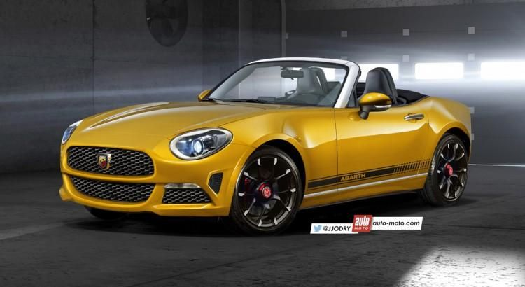 rendering neuer fiat 124 spider vom tuner abarth. Black Bedroom Furniture Sets. Home Design Ideas