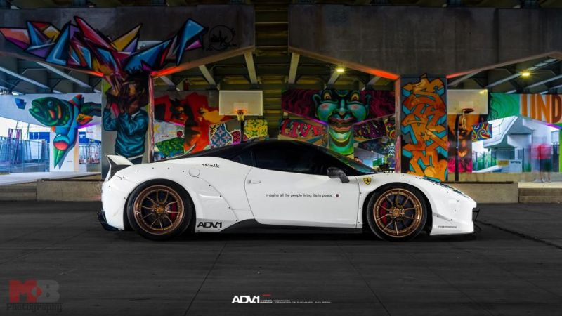 11705511 942600429138324 9055615930871692589 o ADV.1 Wheels in Gold am Ferrari 458 Liberty Walk