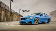 BMW M4 with HRE Classic 303 Wheels in Brushed Dark Clear 27 190x107 TAG Motorsports BMW M3 F80 mit HRE Classic 300 & 303 Alu´s
