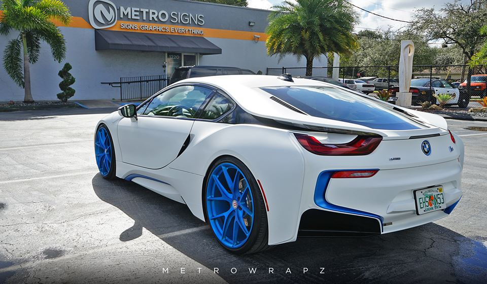BMW I8 Foil Matt White Carbon Tuning 1 155x90
