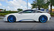 BMW i8 Folierung mattweiß Carbon Tuning 2 190x111 Wheels Boutique Folierung und HRE Wheels am BMW i8
