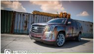 Cadillac Escalade Rust Chrome 3 190x111 Cadillac Escalade Rat Look Folierung by Metro Wrapz