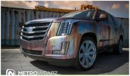Cadillac Escalade Rust Chrome 5 190x111 Cadillac Escalade Rat Look Folierung by Metro Wrapz