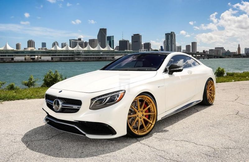 Exclusive Motoring Mercedes Benz S63 AMG Coupe On ADV.1 1 Adv.1 Wheels in Gold am Mercedes Benz S63 AMG