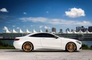 Exclusive Motoring Mercedes Benz S63 AMG Coupe On ADV.1 4 190x124 Adv.1 Wheels in Gold am Mercedes Benz S63 AMG