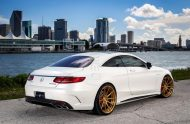 Exclusive Motoring Mercedes Benz S63 AMG Coupe On ADV.1 7 190x124 Adv.1 Wheels in Gold am Mercedes Benz S63 AMG
