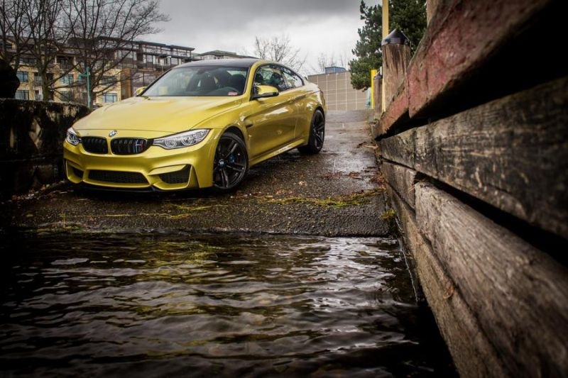 Gorgeous Austin Yellow BMW F82 M4 With Mode Carbon Aero Installed 1 Mode Carbon Parts am BMW M4 F82 in Austin Yellow