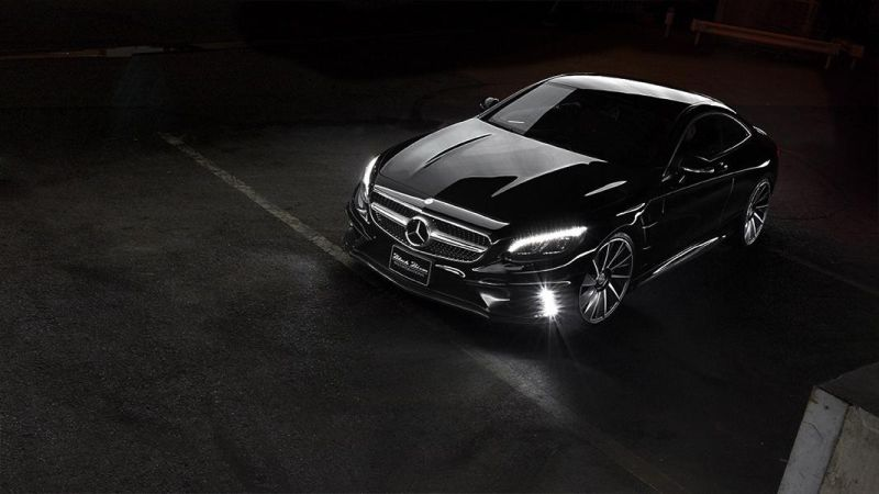 Mercedes Benz S Class Coupe by Wald International 1 Fertig   Wald Internationale Mercedes S Klasse Coupe Black Bison