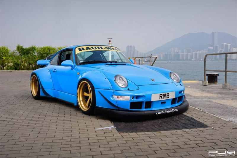 Porsche 993 RWB On PUR LG07 By PUR Wheels 1 PUR Wheels LG07 Alufelgen am Porsche 993 Carrera RWB