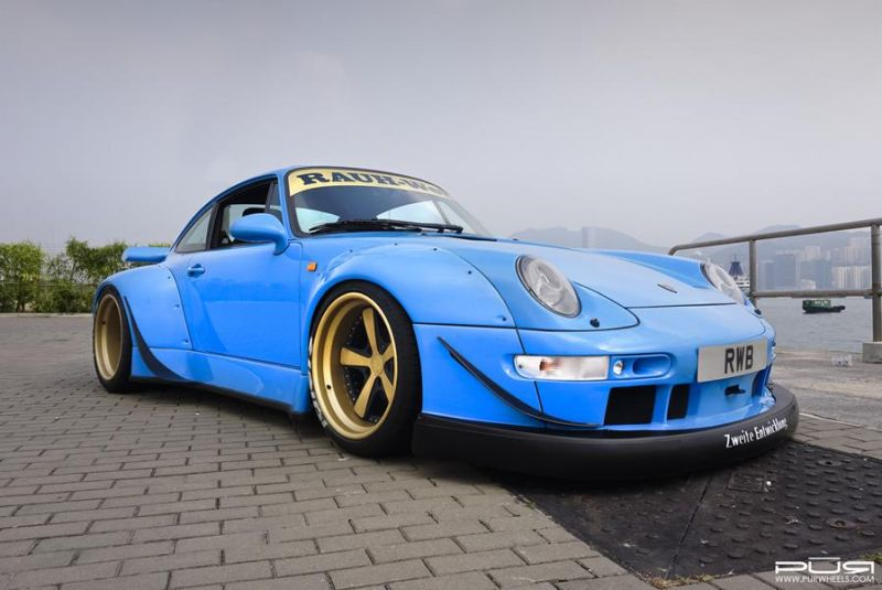 Porsche 993 RWB On PUR LG07 By PUR Wheels 2 PUR Wheels LG07 Alufelgen am Porsche 993 Carrera RWB