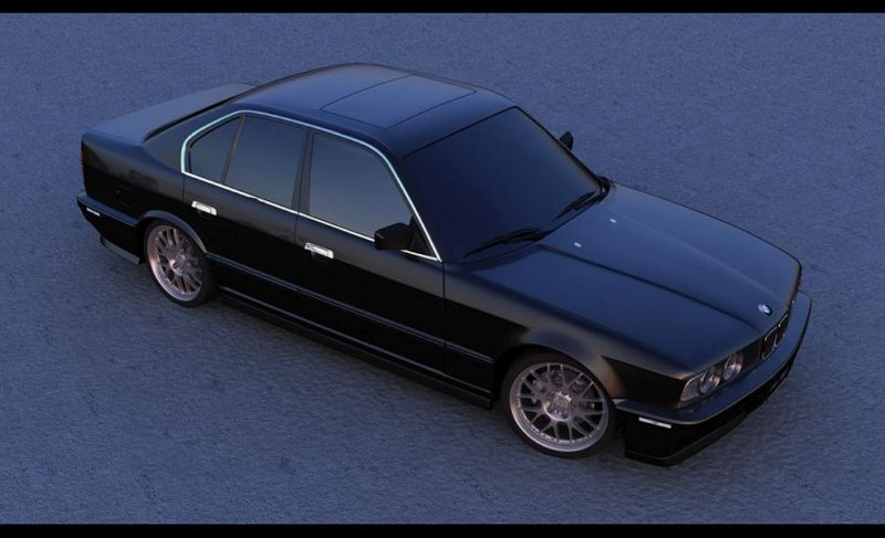 bmw e34 at sunset daytime  1 Getunter Klassiker   BMW E34 540i V8 in Schwarz