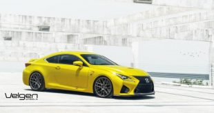 lexus rc f 1 tuning wheels 1 310x165 Striking yellow Lexus RC F with 20 inch Velgen Wheels