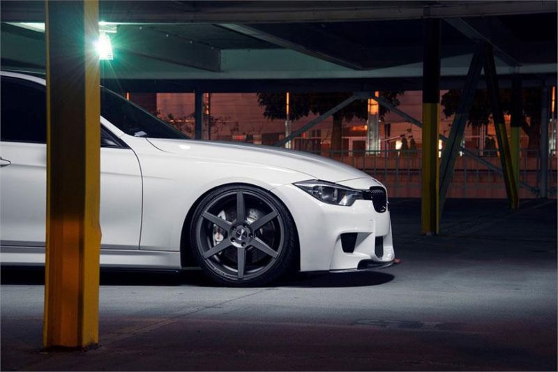 stance sc6 bmw f30 white 4 Stance Wheels SC6 in Grau am weißen BMW F30 335i