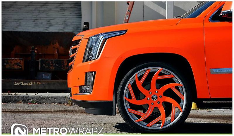 11838589 879685052068499 819842352416227111 o Knalliges Orange & Forgiato´s am Cadillac Escalade