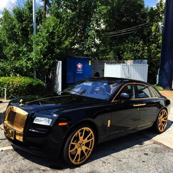 11894552 10153089868401662 5784000565693678682 o Forgiato Wheels Alufelgen in Gold am Rolls Royce Ghost