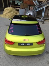 11895243 874802312573613 3577714209065124376 o 190x253 Crazy Farbkombi   Audi A1 in Yellow Flash & Candy Pink